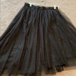 Lauren Conrad black tuille skirt